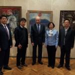 Корейска правителствена делегация на изложбата на Е. Велев