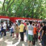 На касите в парк Жардини преди откриването на Венецианското Биеналето