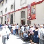 Опашката пред Галея Академия във Флоренция