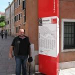 Пред информационната табела на Биеналето